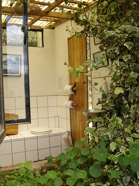 Marvelous Indoor Garden In Every Bathroom, Composting Toilet Under Every Butt.
